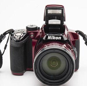 Nikon Coolpix P510 Digitalkamera Kamera rot - Nikkor 42x 4.3-180mm Optik OVP