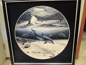 "Wyland    ""Undersea World""   Giclee on Canvas 38"" X 38"" Wyland/DeShazo signed!!"