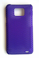 Purple Mesh Hard Case Cover for SAMSUNG i9100 Galaxy S 2
