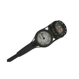 Compact Scuba Dive Pressure Gauge BRASS SPG with Compass Console PSI Metric BAR