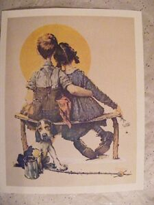 "Norman Rockwell: Prints 14'h x 11""w. Set of 4"