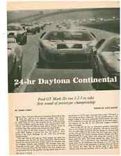 1966 FORD GT MK II / GT-4O  @ DAYTONA CONTINENTAL ~ ORIGINAL 5-PAGE ARTICLE / AD