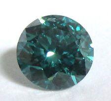 0.46 carats BLUE Brilliant Cut ROUND POLISHED DIAMONDS