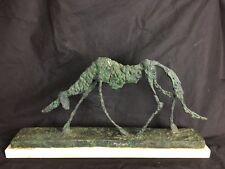 """Beautiful antique bronze sculpture """"DOG"""" A. Giacometti"""