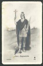Holy card postale antique de San Expedito santino image pieuse estampa