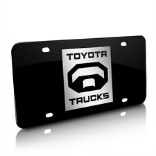 Toyota Trucks Logo Black Steel License Plate, Official Licensed