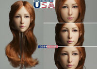 "1/6 Asian Female MOVABLE EYES Head Sculpt B For 12"" PHICEN Hot Toys Figure USA"