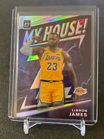 2019-20 DONRUSS OPTIC LEBRON JAMES MY HOUSE HOLO SILVER PRIZM #13 LAKERS