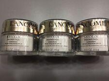 Lancome Absolue Premium Bx Replenishing Day Cream SPF15 Sunscreen 0.5oz X3 FRESH