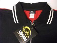 NWT Vintage CANARI Cycle wear Mens Half Zip Outdoor Jersey Shirt Black  Red sz M