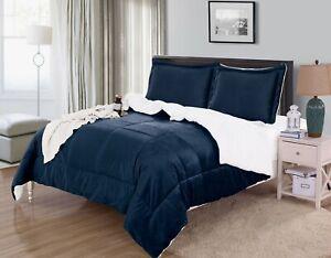 Micromink Sherpa Reversible Down Alternative Comforter Set 3 PC SET