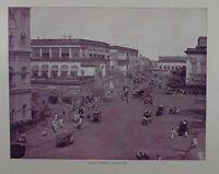 1895 India Estampado - Clive Calle Calcutta
