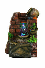 Waterfall Tabletop Fountain With Multi Color LED Lights