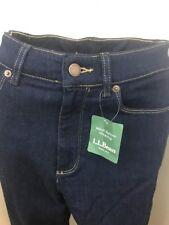 LL Bean Jeans Denim Dark Wash Sz 6 MT NWT Stretch High Waist Professional Flare