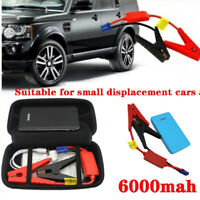 Car Jump Starter Portable Mini Slim 6000mAh Engine Battery Charger Power Bank