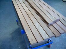 12x 56mm/35mm Hardwood garden bench slats 4ft long, JATOBA + 24x S/S fixings