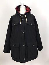 Woolrich Women's Advisory Wool Insulated Parka Coat Jacket Wool Loft Black XXL
