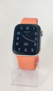 Apple Watch (Series 4) Hermès Edelstahl 44 mm GPS + Cellular - Silber Sportar...