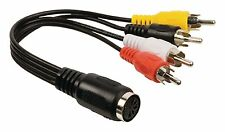 CABLE CORDON AUDIO STEREO DIN FEMELLE 5 BROCHES VERS 4 X RCA MALE AUDIO VIDEO