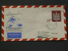 Bund schöner Erstflugbrief 12. September 1956