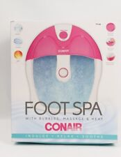 Conair Foot Spa with Bubbles Massage and Heat New in Scuffed Box
