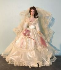 """Paradise Galleries 1999 VICTORIAN BRIDE 14"""" Porcelain Doll by Patricia Rose"""