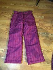 Lands' End Kids Ski Snow Board Pants Fuchsia/Raspberry Girls' Size 16 WOMENS S