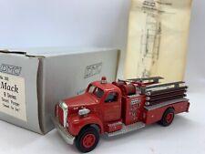 DMC 1950 Mack DeHanes Cornwall Handmade Red 1:55 Scale Model Diecast Fire Truck