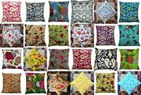 """INDIAN CUSHION BED PILLOW COVERS THROW Ethnic Vintage Kantha Decor 16"""""""