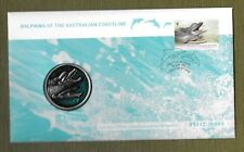 "2009 AUSTRALIAN "" DOLPHINS OF AUSTRALIA ~  ~ COVER WITH THE SPECIAL MEDALLION"