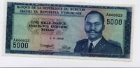 Burundi 5000 Francs Banknote ( 1968) Pick 26 UNC Condition