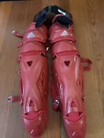 "Adidas Pro Series Catchers Leg Guards 2.0 Baseball Triple Knee S98306 Size 17"""