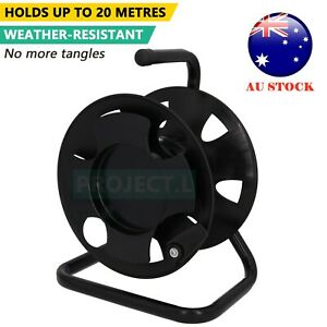 Extension Cord Reel Heavy Duty Lead Cable Wire Holder Organizer Storage Black Au