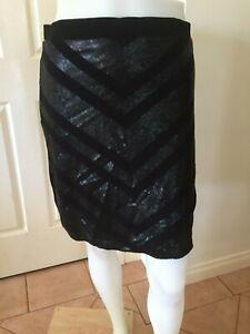Peter Morrissey Black Sequin Skirt Size 12 - BNWT