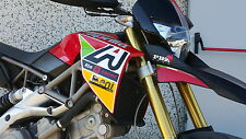 Kit adesivi stickers carene laterali APRILIA DORSODURO be a racer moto gp sbk