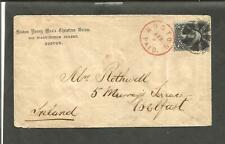 US 69, 12 cent Washington Apr. 3,1869, Boston paid in red to Ireland [835