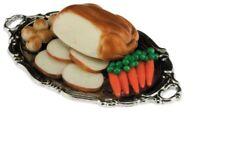 Dollhouse Miniatures 1:12 Scale Turkey Dinner on Tray Item #IM66024