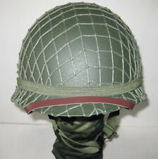 High Quality Collectable US Army M1 Military WWII Replica Metal Helmet&Net Green
