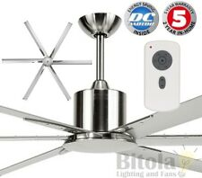 "NEW BRILLIANT MAELSTROM 84"" LARGE DC CEILING FAN W/ REMOTE METAL SILVER 18515/13"