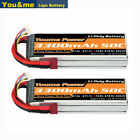 2pcs 14.8V 3300mAh 4S LiPo Battery 50C Deans For RC Helicopter Airplane Boat FPV