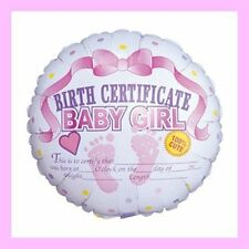 It's A Girl Birth Certificate Foil Balloon for Birth Announcement   #1122