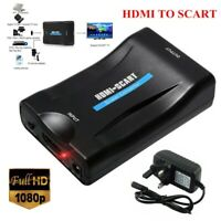 HDMI To SCART 1080p Composite Video Scaler Converter Audio Adapter for TV DVD