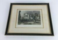 Vintage The Town Hall At St Albans Framed Engraving Hertfordshire Wall Decor
