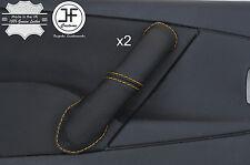 Yellow Stitch 2X Avant Poignée Porte Couverture en cuir pour CITROEN XSARA PICASSO 04-10