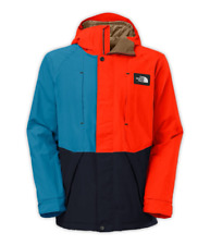 The North Face Turn It Up Jacket Men's Large, ORANGE/BLUE/BLUE Brand New