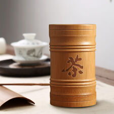 Bamboo Sealed Tea Canister Spice Gcaddy Tin Caddy Storage Containers Organizer