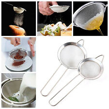 STAINLESS STEEL WIRE MESH SIEVE WITH HANDLE KITCHEN TEA STRAINER FILTER