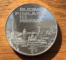 SUPERBE PIÈCE DE 10 MARKKA FINLANDE J.O. HELSINKI 1971 EN ARGENT (89)