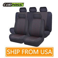 Full seat car seat cover black& red dot mesh fabric car goods fit universal car