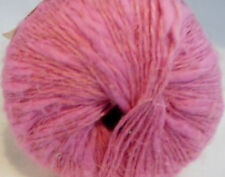 Lion Brand NICOLE YARN - Cotton/Linen/Acrylic -  Pink++++ 4 SKS!!!! FREE PATTERN